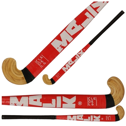 Picture of Field Hockey Stick College Red Outdoor Wood Multi Curve - Head Shape: Classic 30 & 34 Inch