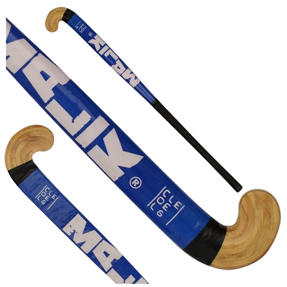 Picture of Field Hockey Stick College Blue Outdoor Wood Multi Curve - Head Shape: Classic 30 & 34 Inch