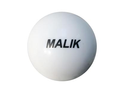 White Smooth Malik Field Hockey Ball Front