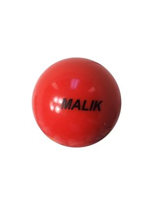Malik Field Hockey Smooth Bright Orange Ball Front
