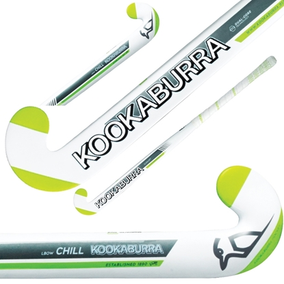 Picture of Field Hockey Stick Chill L-Bow Obscene by Kookaburra 50% Composite Carbon 50% Fibreglass 36.5 Inch