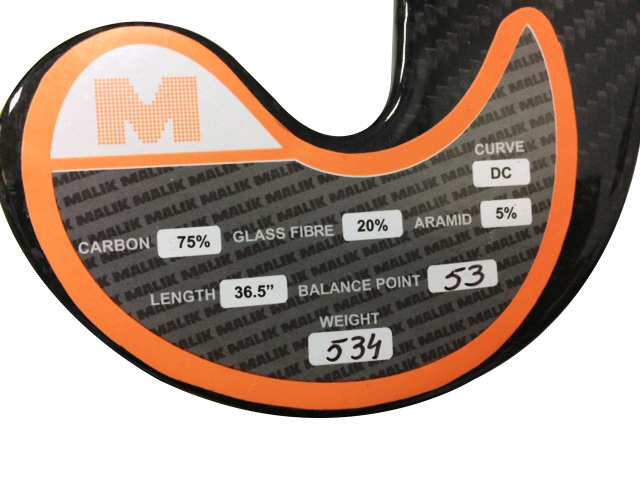 Field Hockey Sticks Specification Label