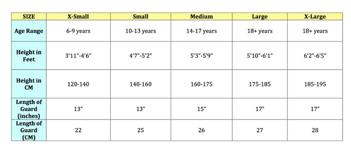 For More Information On Sizing Check Out Our Shin Guards Chart
