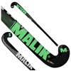 Picture of Field Hockey Stick Slam J Black  Green Silver Outdoor Wood Multi Curve - Quality: Pluto J, Head Shape: J Turn