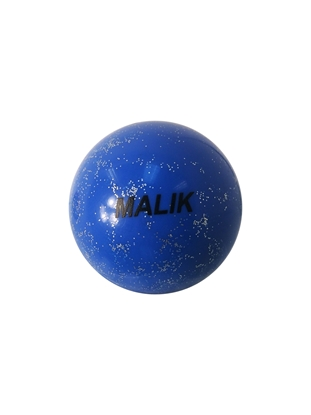 Blue Sparkle  Smooth Malik Field Hockey Ball Front