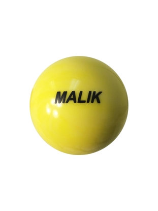 Malik Yellow Field  Hockey Ball Front