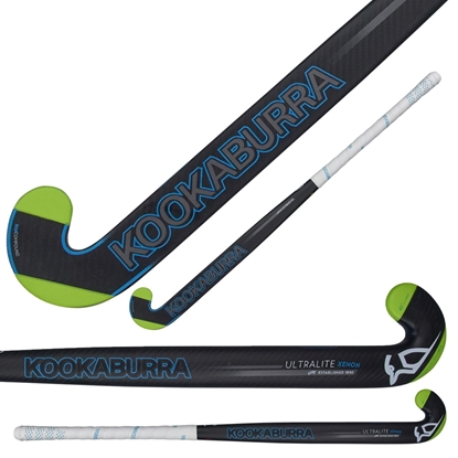 Picture of Field Hockey Stick Ultralite Xenon L-Bow  95% Composite Carbon 5% Fiberglass 36.5 & 37.5 Inch by Kookaburra