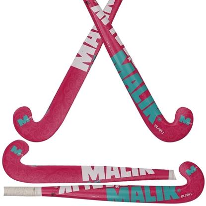 Picture of Field Hockey Stick Slam J Pink, Indoor Wood Multi Curve - Quality: PLUTO J, Head Shape: J Turn