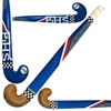 Picture of Field Hockey Stick Blue Indoor Wood by F HS Extra Low Bow Maxi Shape Color Blue
