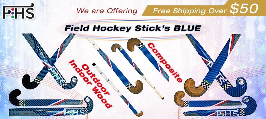 Blue Composite Hockey Stick